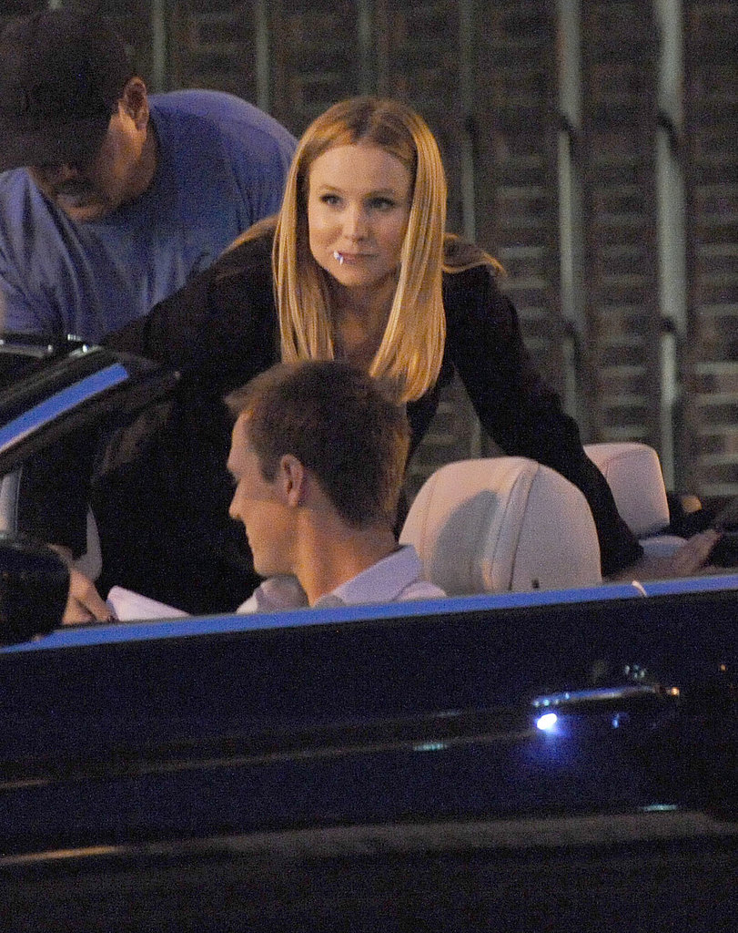 Kristen Bell and Jason Dohring on the Los Angeles set of Veronica Mars.