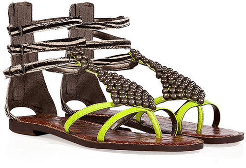 Sam Edelman Wild Lime-Multi Ginger Leather Sandals