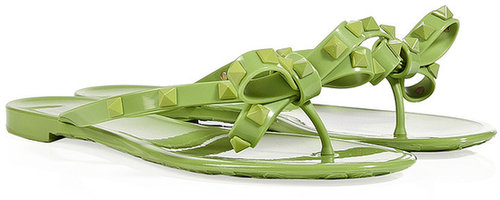 Valentino Pop Apple Rubber Rockstud Flip-Flops