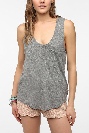 Truly Madly Deeply Tri-Blend Slouch Pocket Tank Top