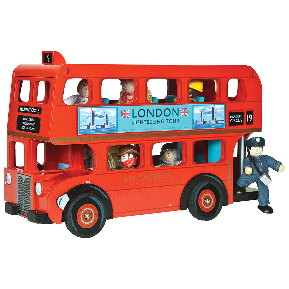 Le Toy Van's London Bus With Driver ($74) is sure to become the centerpiece of hours of play with its wooden London bus and driver made of cloth.