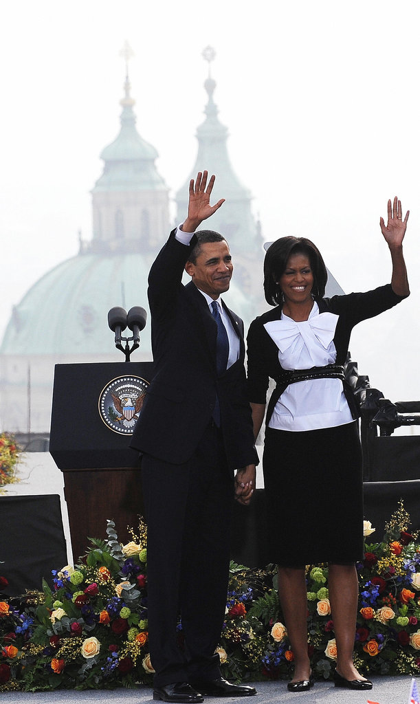 The Obamas visited Prague in April 2009 for a summit with European Union leaders.