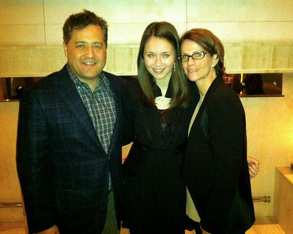 Katie Chang brought her parents to a screening of The Bling Ring in March.  Source: Twitter user KatieChang53