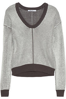You can't go wrong with a good knit, and because they're usually quite exxy, sale time is the best time snap one up. I love, love this grey sweater — it truly is the perfect item to wear with your leather companion. — Stephanie, Health & Beauty Journalist. Knit, approx $177 from approx $355, T By Alexander Wang at Net-a-Porter