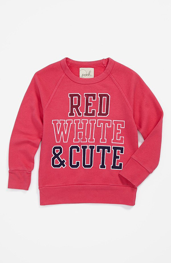 Peek's Parade sweatshirt ($48) is the perfect throw-on for late-night firework watching. Want her baby sister to match? Check out the baby size ($38), too!