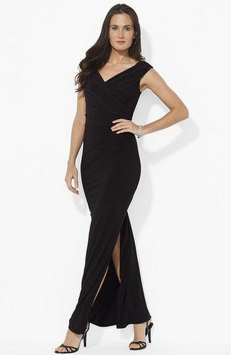 Lauren Ralph Lauren Off Shoulder Jersey Gown