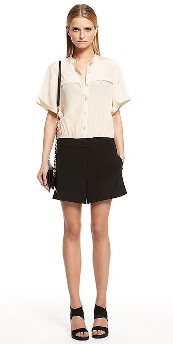 Colorblocking is all the rage, so get in on the craze via this DKNY short-sleeved romper ($335).