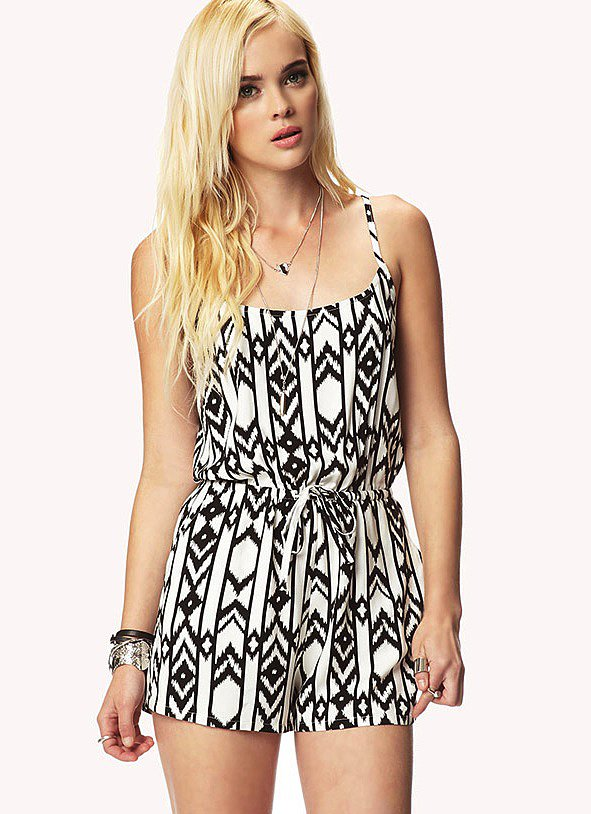Forever 21's ikat romper ($16) will help you hit the black-and-white trend while experimenting with prints, too.