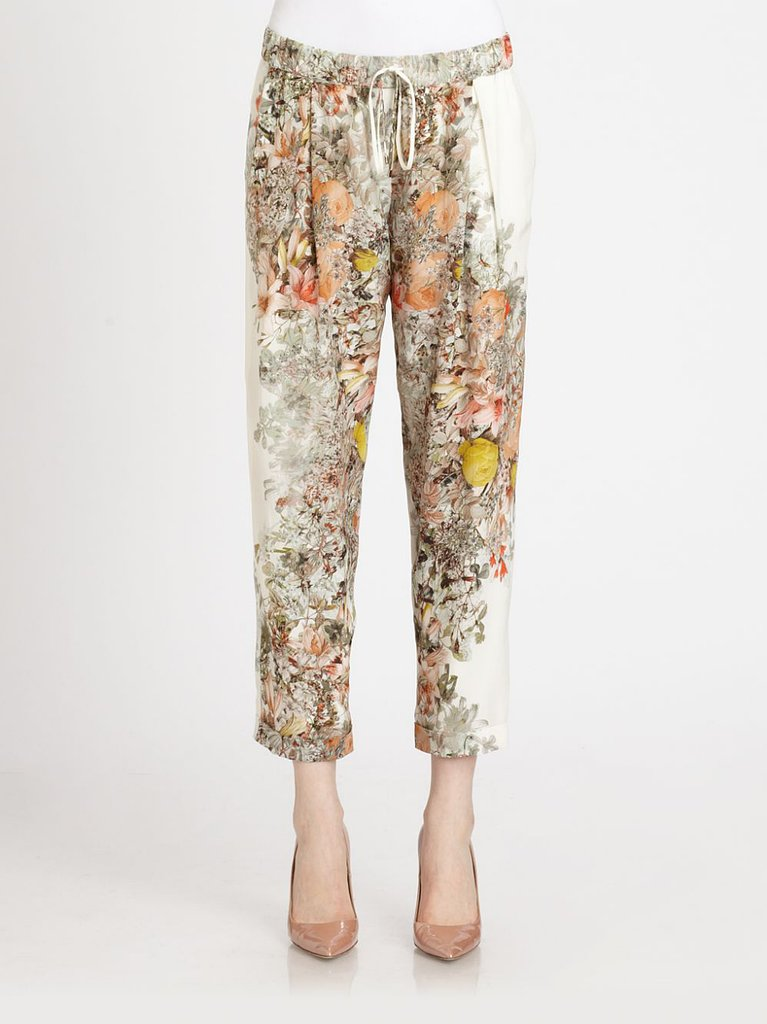 Sweet floral prints aren't only for sundresses. Haute Hippie's cropped trouser ($375) is ready for Summer strolling with bursts of wildflowers.