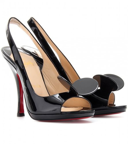 Christian Louboutin MISS MOUSE 120 PATENT LEATHER PUMPS