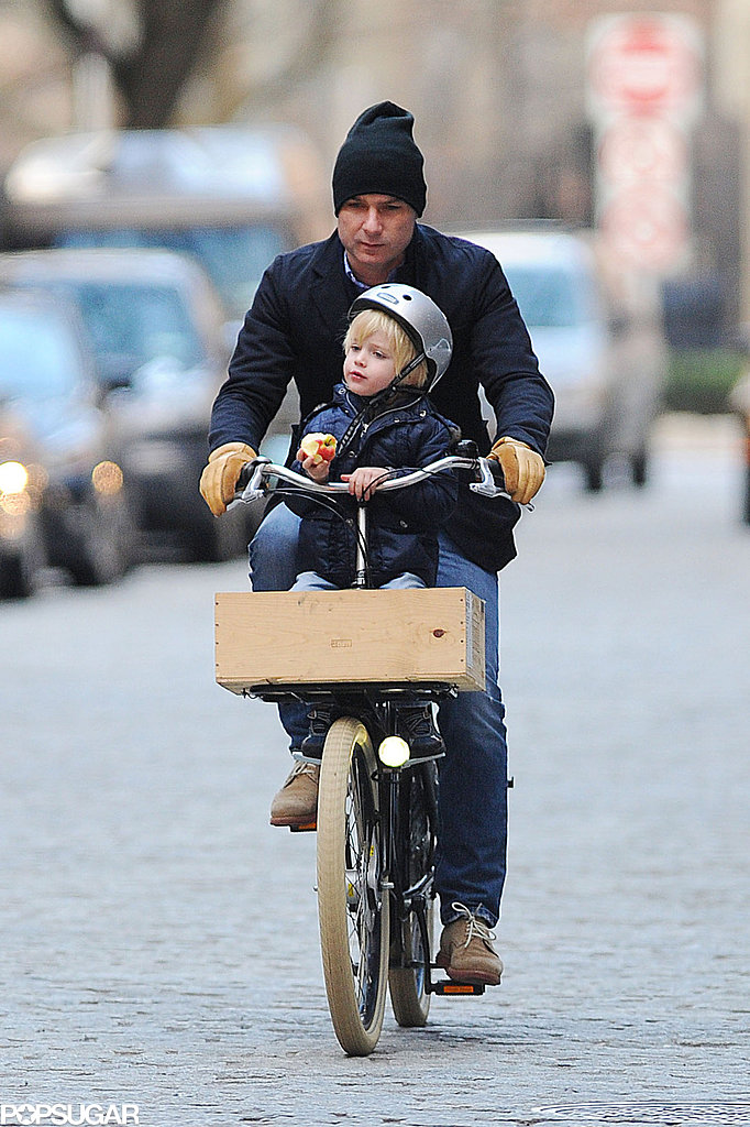 Liev Schreiber went on an NYC bike journey with his son Kai in December 2012.
