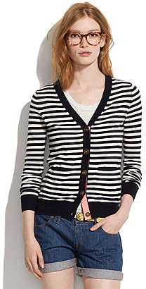 Travel cardigan in stripe