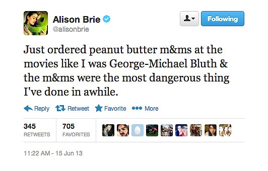 Alison Brie had an Arrested Development moment.