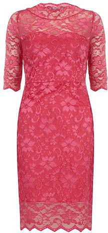 Cerise lace dress
