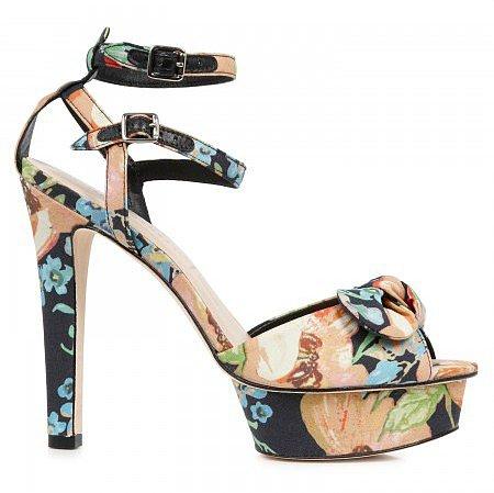 Loeffler Randall Dahlia floral print sandals - Multicoloured