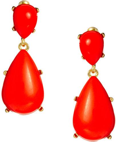 Kenneth Jay Lane Statement Pear Earrings