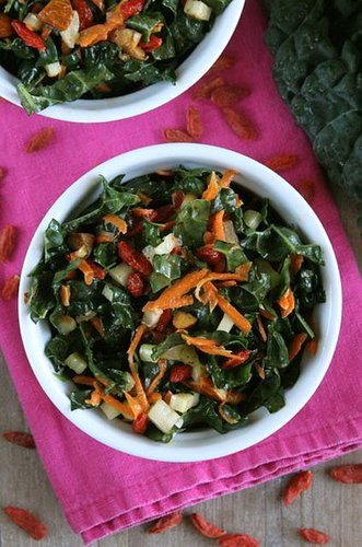 Maple Almond Kale Salad