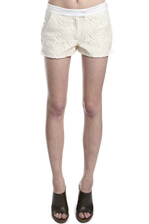 A.L.C. Milo Shorts in Cream