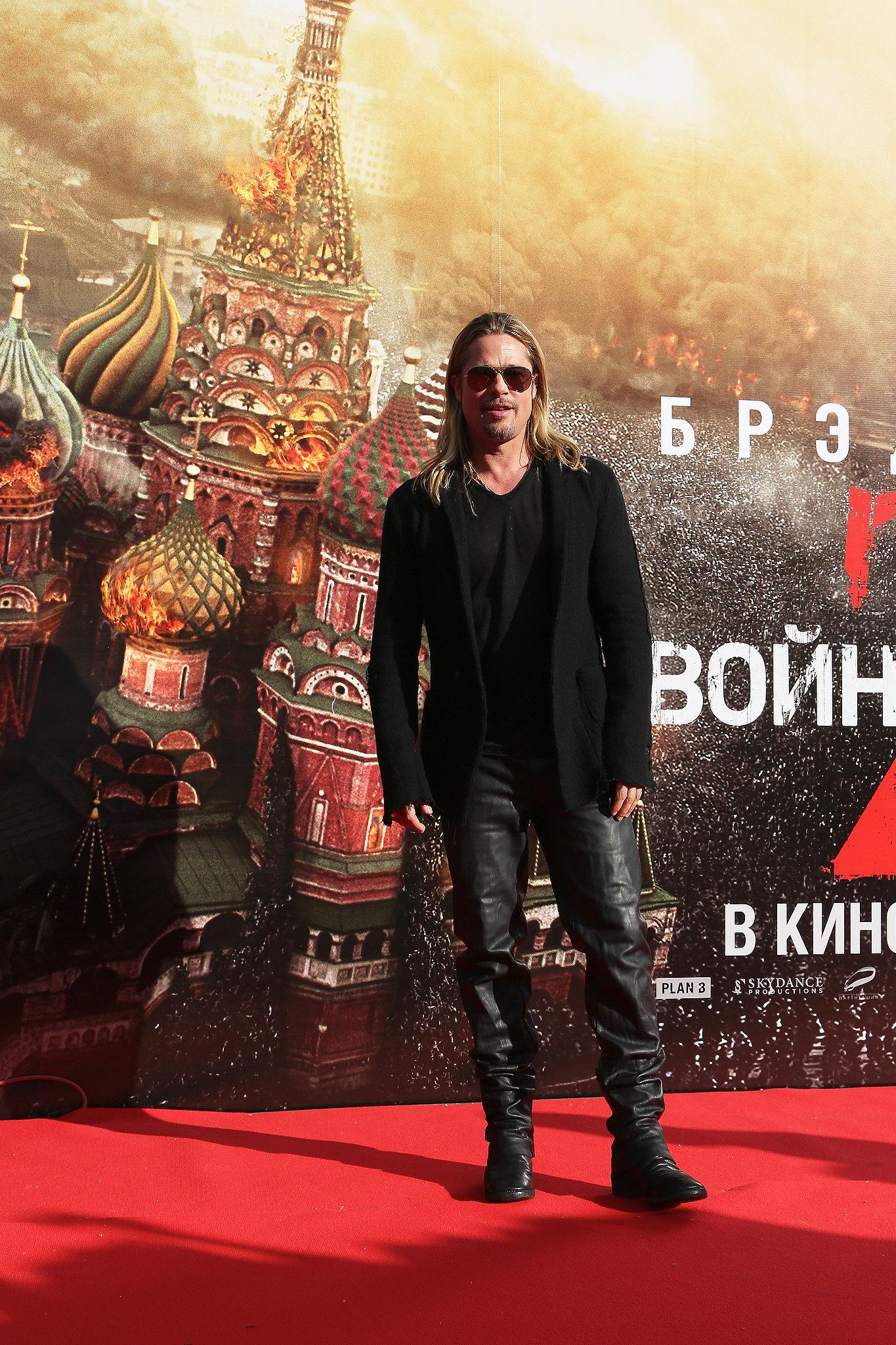 Brad Pitt Tours Russia With Shiloh and Zahara!