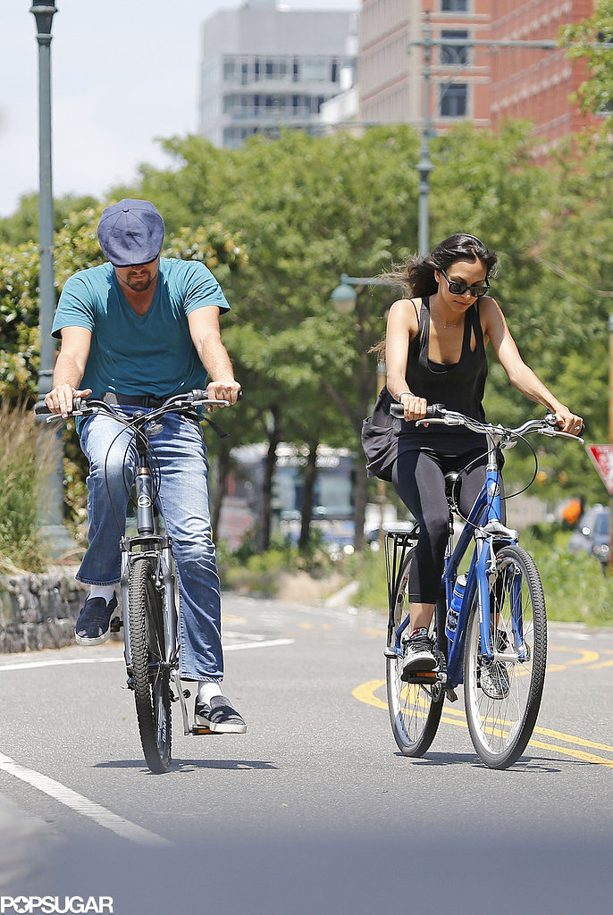 Leonardo DiCaprio took a spin around NYC with a pal in June 2013.