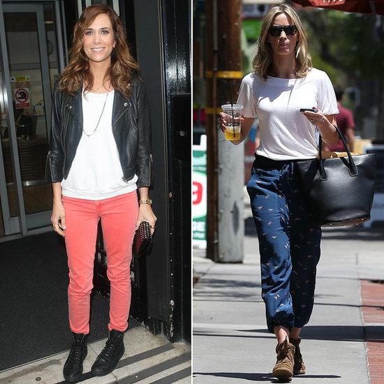 Kristen Wiig and Emily Blunt Wearing Sneakers