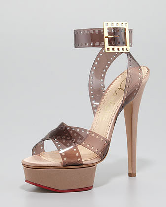 Charlotte Olympia Girls on Film Platform Sandal, Sepia