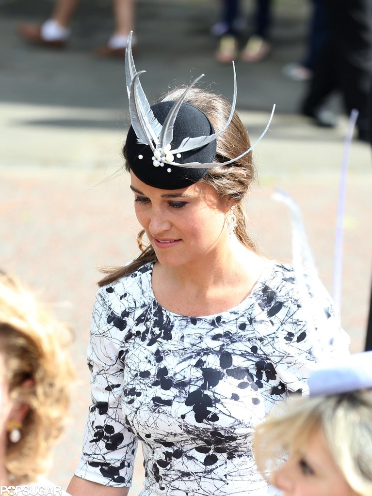 Pippa Middleton arrived for the wedding.
