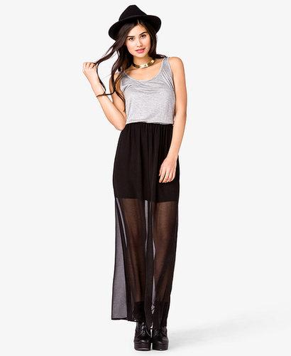 FOREVER 21 Contrast Maxi Dress