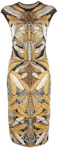Alexander McQueen dragonfly jacquard dress