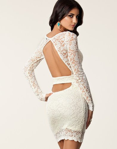 John Zack / Lace Cut Out Back Dress