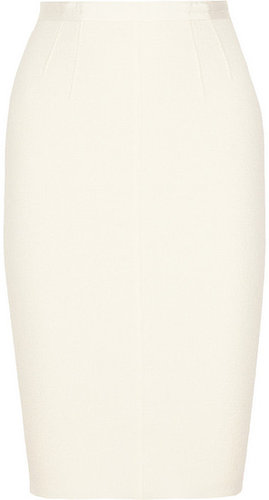 Nina Ricci Stretch wool-blend crepe skirt