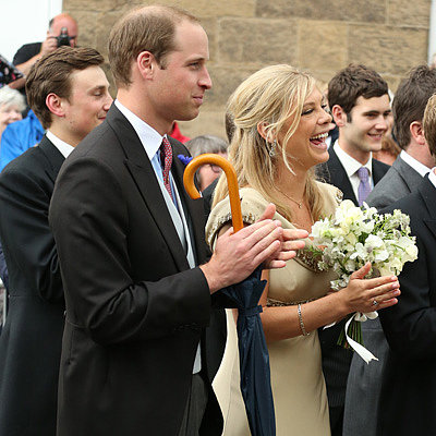 Princes William and Harry at Melissa Percy's Wedding