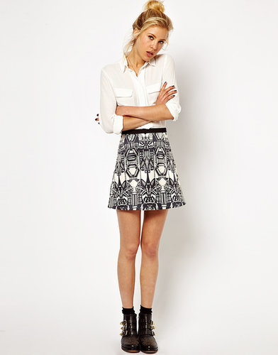 ASOS Mini Skirt in Art Deco Print