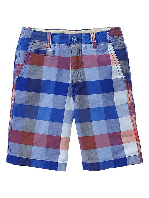 The oversize gingham print on Gap's flat-front shorts ($27) is a fresh take on a classic.