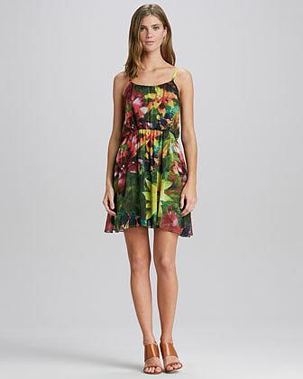 Alice + Olivia Daley Floral-Print Dress