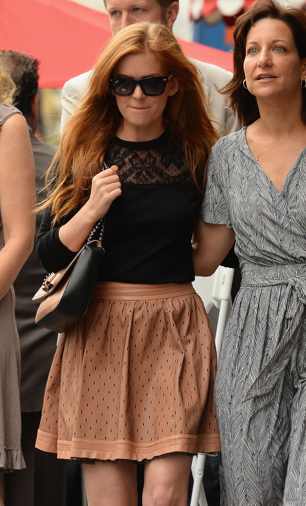Isla Fisher made an appearance on the Hollywood Walk of Fame on Monday, where Jerry Bruckheimer was accepting his star.