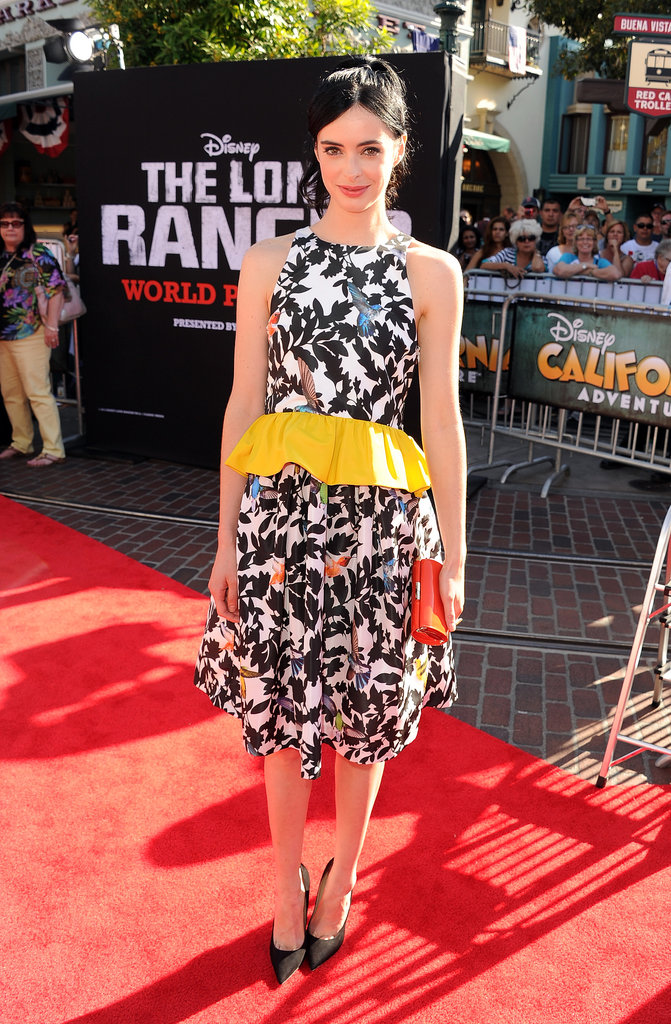 Krysten Ritter was darling at The Lone Ranger's premiere. That yellow peplum took the look to even more adorable heights.