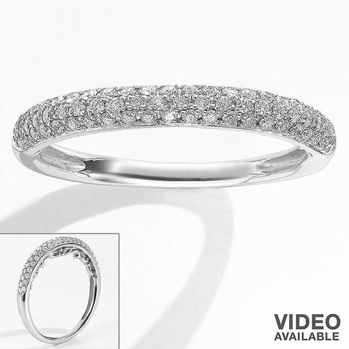 Simply vera vera wang 14k white gold 1/4-ct. t.w. diamond ring