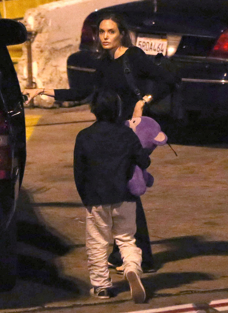 Angelina Jolie and Pax returned home after a trip to New York City.