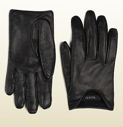 Black Nappa Leather Women's Cutaway Gloves
