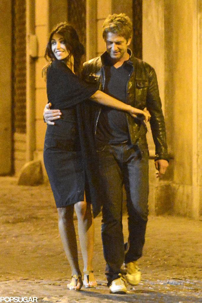 Gerard Butler and Madalina Ghenea strolled through Rome.