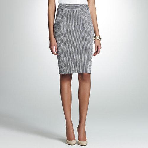 Seersucker Pencil Skirt