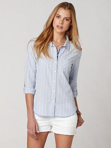 Seersucker pinstripe shirt