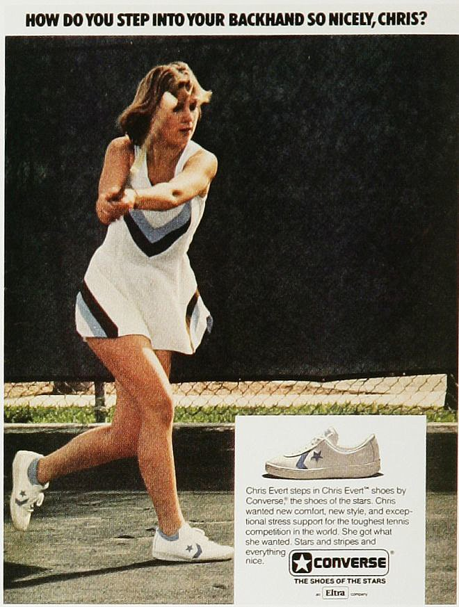 The former number-one-ranking tennis player did it all thanks to Converse. Suuure.