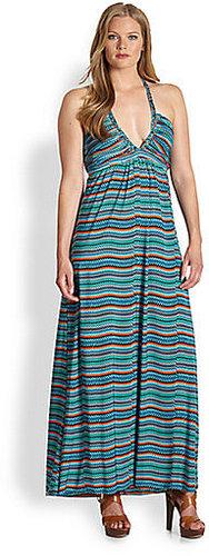 T-bags Los Angeles, Salon Z Deep-V Maxi Dress