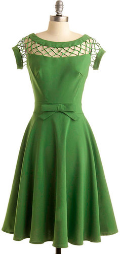 Bettie Page With Only a Wink Dress in Peridot