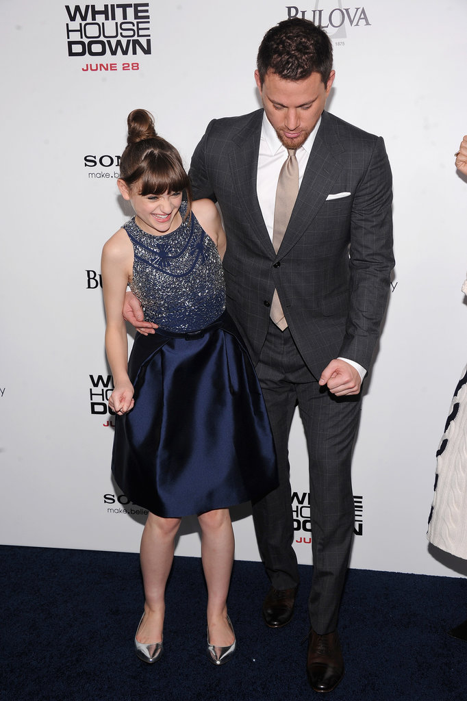 Channing Tatum and Joey King had a laugh on the carpet at the NYC premiere of White House Down in NYC in June.