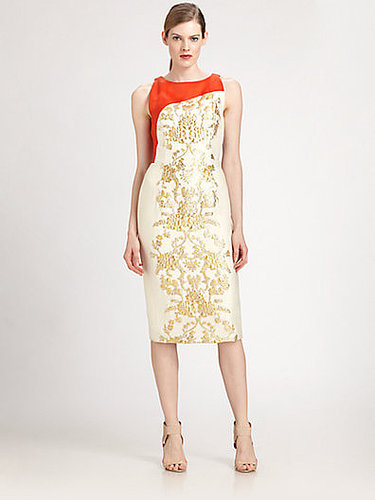 Carolina Herrera Baroque Lamé Jacquard Dress