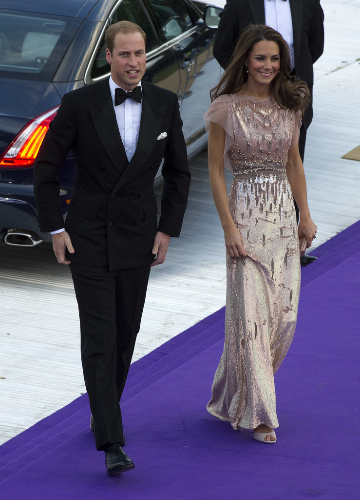 Kate shimmered in a pink frock when she attended the June 2011 benefit for the Absolute Return for Kids nonprofit with Prince William in London.