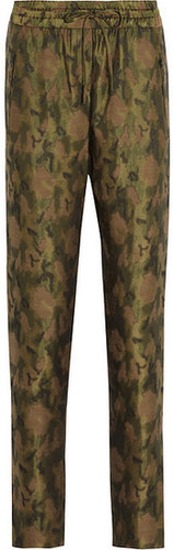Faith Connexion Camouflage-print woven tapered pants